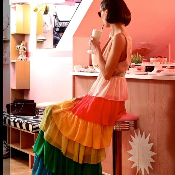 "Alice + Olivia Dresses & Skirts - Alice + Olivia ""Luba"" Chiffon Gown"